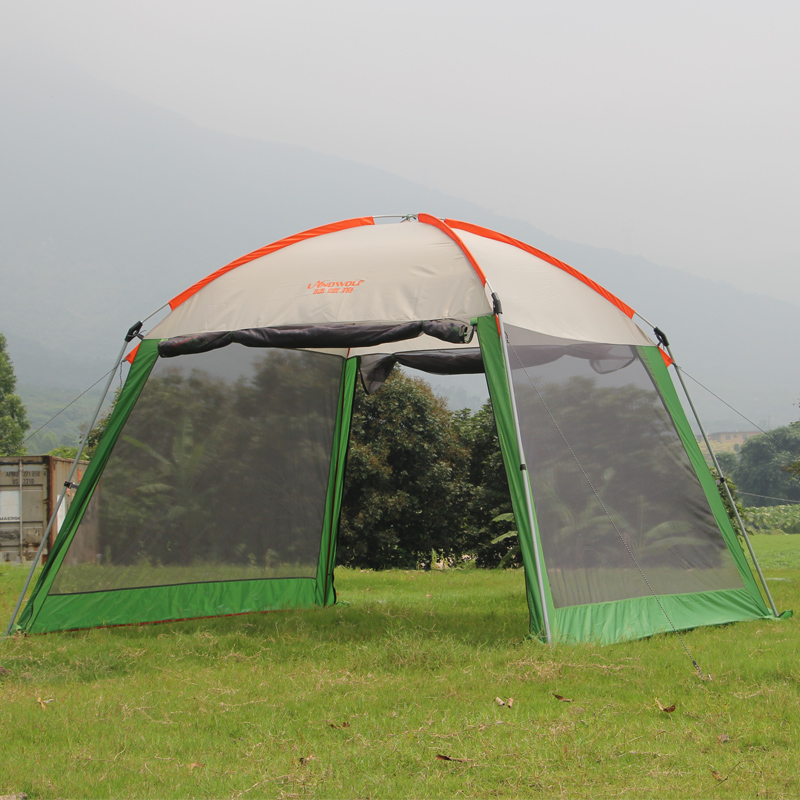 Outdoor recreation sun awning tent double canopy large c&ing Summer beach tent 6 persons waterproof folding gazebo for garden-in Tents from Sports ... & Outdoor recreation sun awning tent double canopy large camping ...