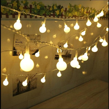 10M 100LED Christmas Lights Fairy Ball Garland Flashing Bulb String Light House Wedding Garden Party Festival Holiday Decor