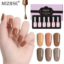 Mizhse Uv Gel Polish Nail Art Gel Nail Polish Set untuk Manikur Vernis Semi Permanant Gel Cat Kuku Panjang tahan Lama Pernis(China)