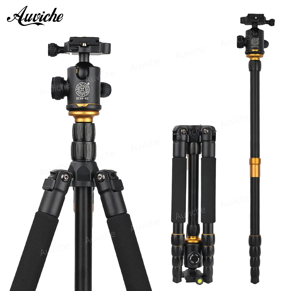 все цены на QZSD Q666 Aluminum alloy Tripod Professional Photographic Portable Tripod & Monopod Set For Digital SLR Camera DV онлайн