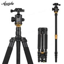 QZSD Q666 Aluminum alloy Tripod Professional Photographic Portable Tripod & Monopod Set For Digital SLR Camera DV