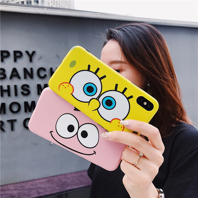 Cartoon Sponge Patrick Star Baby Case For iPhone