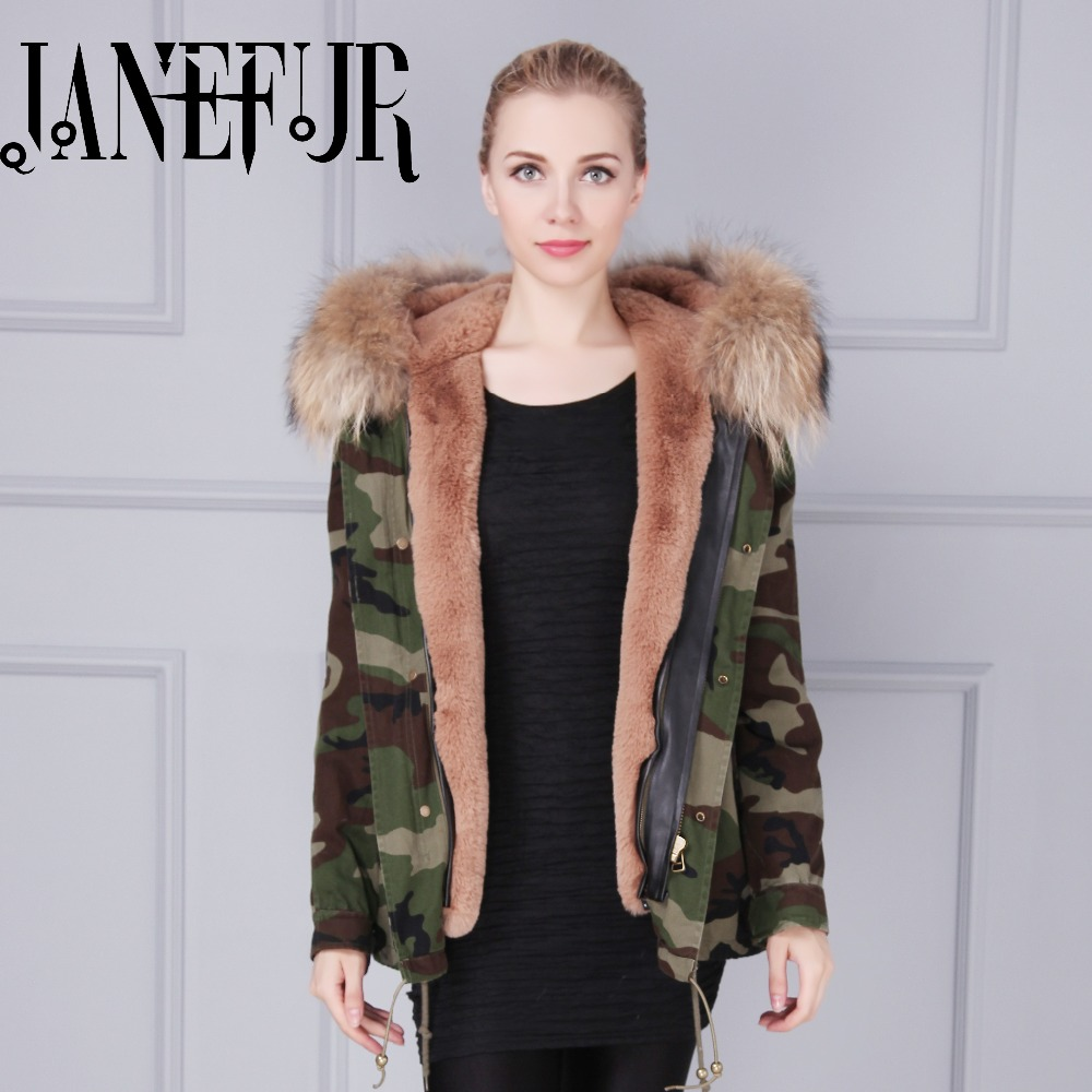 2017 Winter Jacket Women Coat Warm Detachable Lining Big Raccoon Fur Collar Hooded Army Green Brand Design Parka Outwear kohuijoos 3xl winter women army green large raccoon fur collar hooded coat warm detachable natural fox fur lining parka coats