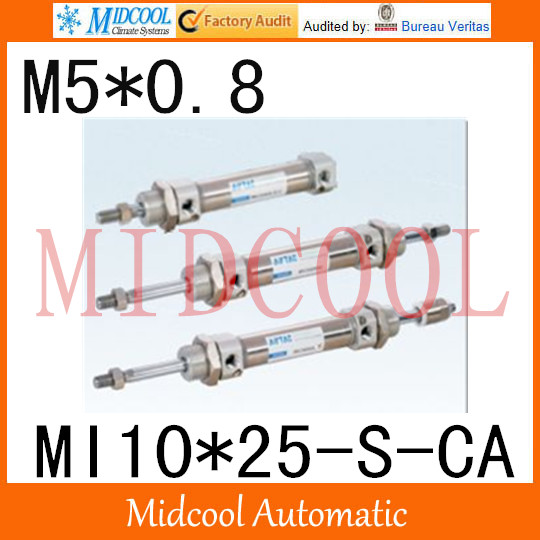 MI Series ISO6432 Stainless Steel Mini Cylinder  MI10*25-S-CA  bore 10mm port M5*0.8 купить в екатеринбурге переходник mini iso
