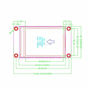 """Image 3 - Lâmpada inteligente de 2.4 """"uart, módulo de lâmpada inteligente com tela sensível ao toque hmi 320x240, display lcd tft, dropship"""