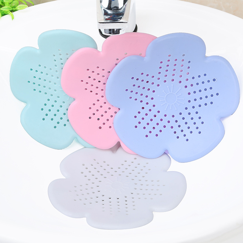 Silicone Shower Sewer Outfall Sink Strainer Kitchen Sewer Outfall Sink Filter Hair Catcher Bath Stopper Plug Sink Filter