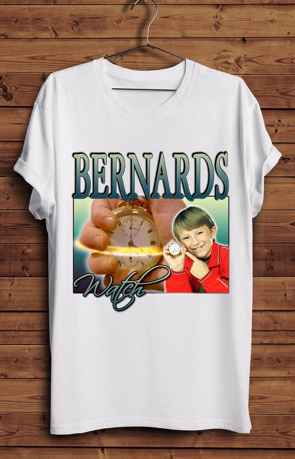 Bernards Watch T Shirt Vintage Funny Homage 90s TV Show Retro CBBC Time image