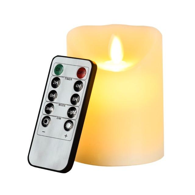 Sin llama electrónica de LED luz de las velas + 10 teclas de control remoto/simulación lámpara de la vela grande DIA pary boda fiesta de cumpleaños
