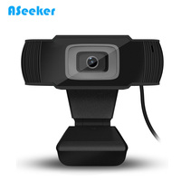 USB Webcam 12 Megapixel High Definition Camera Web Cam 360 Degree Built In MIC For Skype