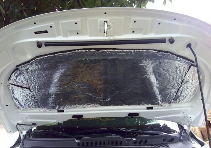 Akustični zvok dušenja zvoka aluminijasta folija avtomobilski - Dodatki za notranjost avtomobila - Fotografija 5