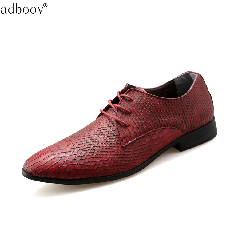 цена  snake skin patter mens leather shoes snake-grain pattern party shoes for man green orange wine red casual cobra derba hot shoes  онлайн в 2017 году
