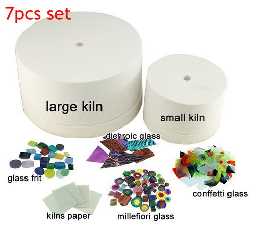 E Packet Free Shipping 2 Pieces Kiln 7pcs Set Microwave For Gl Fusing Coe90 Kit
