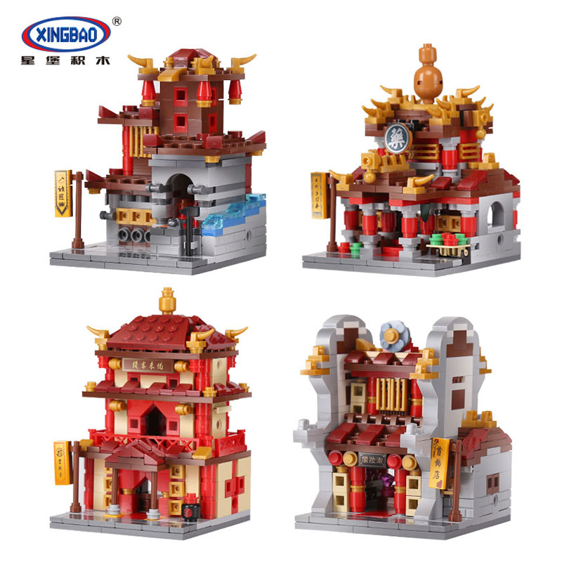 Xingbao 01101 1391Pcs the creative MOC Chinese architecture Series Children Educational Building Blocks Bricks Toys Model mini architecture series 4 cubicfun 3d educational puzzle paper