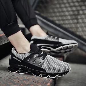 Image 2 - REETENE yaz erkek ayakkabı moda bahar açık ayakkabı erkekler rahat erkeklers ayakkabı rahat örgü ayakkabı erkekler için boyutu 36 48