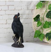 WYZHY Simulation starling feather animal model forest supplies crafts ornaments  11CMx9CMx22CM