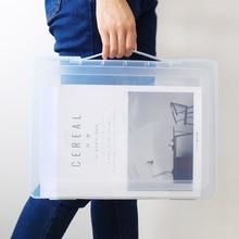 Полипропиленовая прозрачная коробка для документов, органайзер для офисной бумаги, водонепроницаемый чехол для документов