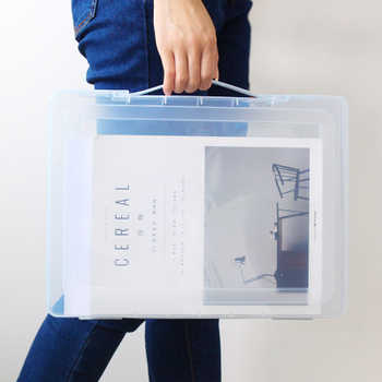 PP Plastic Clear File Box Office Paper Organizer Document Box Waterproof Case For Documents - DISCOUNT ITEM  0% OFF All Category