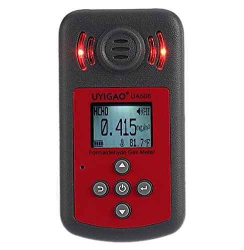 UYIGAO UA506 for PPM HTV Digital Formaldehyde Test Methanol Concentration Monitor Detector withLCD Display Sound and Light Alarm uyigao ua506 brand new handheld portable meter for ppm htv digital formaldehyde test methanol concentration monitor detector w