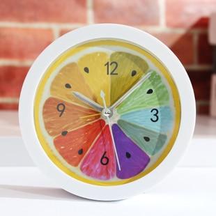 Colorful creative cartoon cute style lemon shape bell ring alarm clocks table desk alarm clock for kids child cheap price