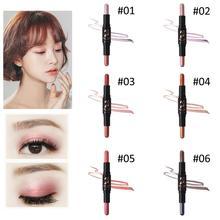 цены на 2-in-1 Double-Headed Seal Black Eyeliner Triangle Seal Eyeliner Waterproof Eyes Make kit with Eyeliner Pen and Eyeliner Stamp  в интернет-магазинах
