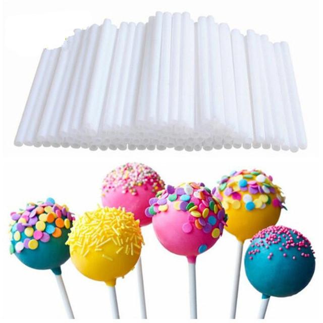 50 pcs 15 cm Lollipop Stick Food-Grade Plastic Pop Sucker Sticks Cake Pop Sticks For Lollypop Candy Chocolate Sugar Pole XB0013