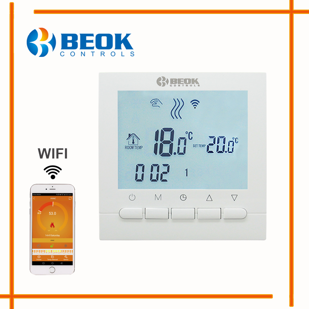 Image 3 - Programmable Room Heating Boiler WIFI Thermostat Digital Temperature Controls Regulator Wifi Control Thermostat for Gas Boilers-in Temperature Instruments from Tools