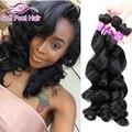 Queen weave beauty brasileira solta onda 4 pacote onda solta mink cabelo humano 7a tecer cabelo brasileiro feixes tissage bresilienne