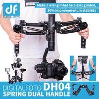 DH04 4.5KG load 3 axis Gimbal Spring Dual Handle Grip for RONIN S Zhiyun Smooth 4 Crane 2 Crane Plus Feiyu AK2000 AK4000