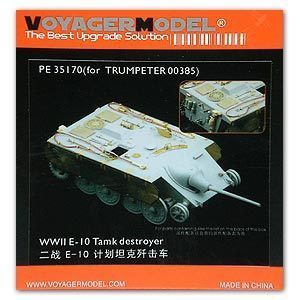 KNL HOBBY Voyager Model PE35170 World War II E-10 plan tank destroyer etching sheet upgrade kit image