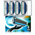 Turbo blade Face care mache 3 lâmina de barbear lâmina de barbear para homens de barbear 8 pçs/lote