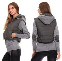 2 sets of manufacturers Fashion women's sweater splicing crash belt cap women's warm cotton coat women's jacket