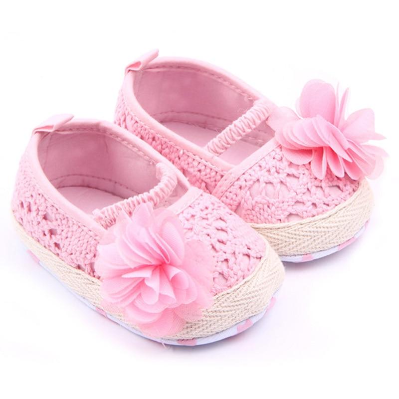 Baby Girls Flower Princess Knittng Crocheted Crib Shoes Infant Toddler Prewalker Best