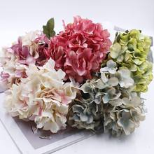 Artificial flowers Hydrangea Silk cheap wedding accessories Wedding bouquet New Year decoration for the vase flower arrangement