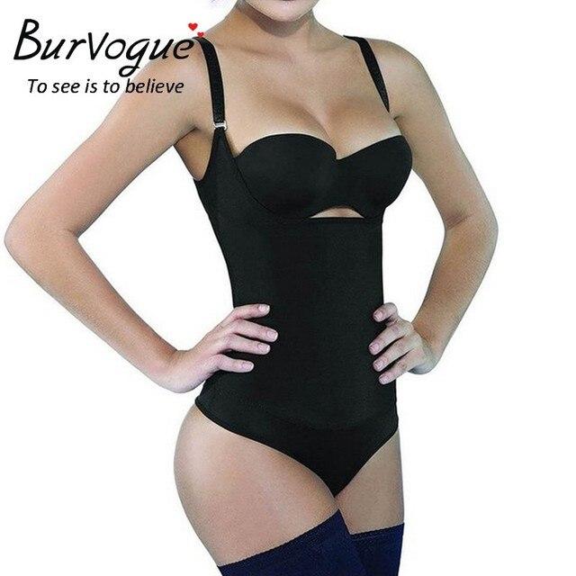 Burvogue Новый Односторонний Latex Body Shaper Пояс Для Похудения Корректирующее Белье для Женщин Талия Управления Underbust Body Sexy Underwear Боди