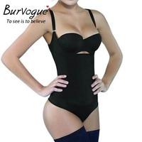 Burvogue Latex Body Shaper Taille Afslanken Shapewear voor Vrouwen Taille Controle Underbust Rits Body Shaper Sexy Ondergoed Bodysuit