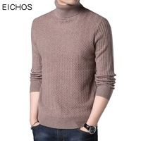 EICHOS Men Sweaters And Pullovers 2017 Turtleneck Sweater Mens Fashion Jumpers Pullover Man Autumn Winter Knitted Clothing
