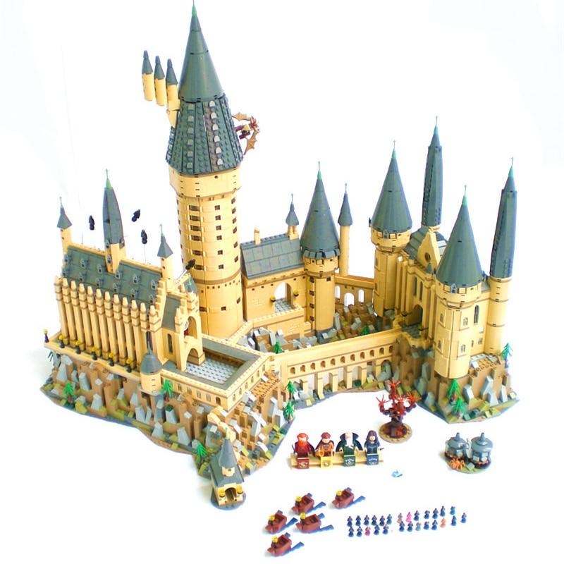 Nuovo Harry Magia Hogwarts Castello fit legoings harry potter castello città Building Blocks Mattoni Del Capretto 71043 fai da te Giocattoli Educativi Regalo