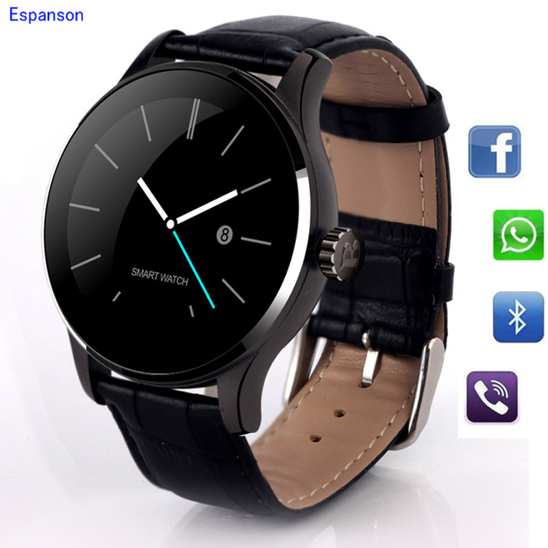 Espanson K8 Smart Watch Bluetooth Sport Wristwatch Heart Rate Monitoring IPS Full Screen Steel Case For iphone Huawei SAMSUNG LG lg k8 k350e синий