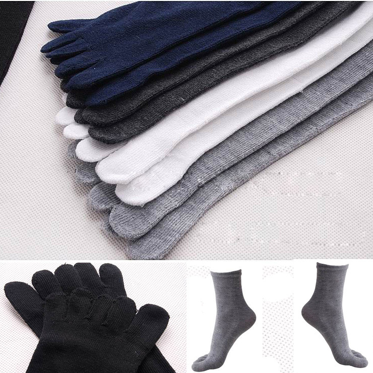 Men prevent beriberi deodorant five toe socks men casual socks barrel toe socks Finger socks 10 PCS( 5 Pairs)/Lot 7 Colours