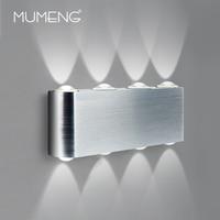 Mumeng conduziu a Lâmpada de Parede 8 leds Cabeceira Luz Das Escadas 6 W 8 W Alumínio Arandela iluminação Noturna Luninaire Branco 95-265 v Indoor luz