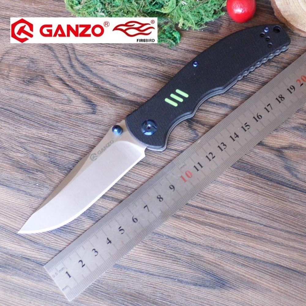58 60HRC Ganzo G7501 440C G10 or Carbon Fiber Handle Folding knife Survival Camping tool Pocket Knife tactical edc outdoor tool in Knives from Tools