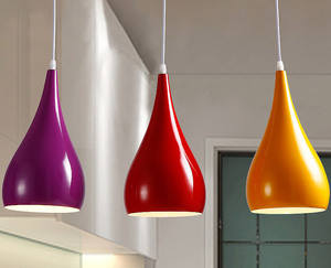 Image 1 - Modern LED kolye lambaları demir Metal aydınlatma armatürleri oturma odası alüminyum kolye ışık