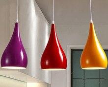 Moderne Led Hanger Lampen Ijzer Metalen Verlichtingsarmaturen Living Slaapkamer Aluminium Hanglamp