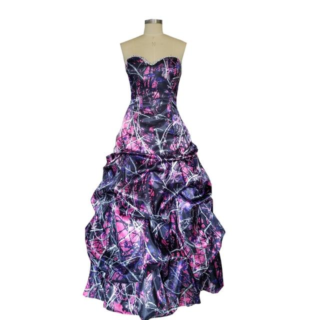 muddy girl pink camo prom dresses 2019 vestido de festa longo camouflage  party gowns custom make free shipping 7183bbc986c7