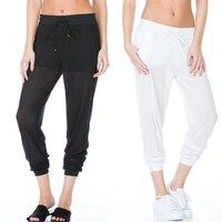2016 Leggings Pour Femmes Cuisse Maille Lâche Faux Deux Pantalon Fitness Leggins Trois Couleur Punk Sportives Leggings De Danse Capris