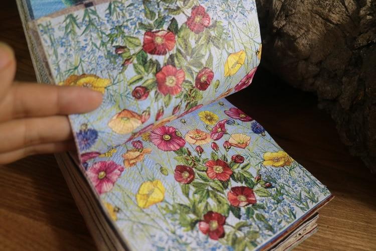 25cm 20  Paper Napkin Tissue Cute Red Yellow Flower Handkerchief Oil Craft Decoupage Girl Boy Kid Birthday Party Serviettes
