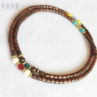 Handmade Diy Brand Jewelry Noble Wooden Beads Multi Color Crystal Beads Vintage Charms Bracelet 2018 New