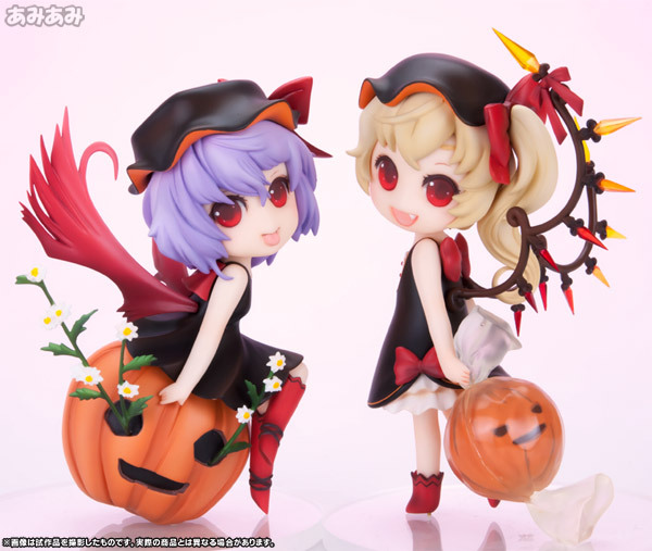 NEW hot 12cm 2pcs/set TouHou Project Remilia Scarlet Flandre Scarlet action figure toys collection Christmas gift doll free shipping cute 4 nendoroid touhou project flandre scarlet pvc action figure model collection toy 136 mnfg036