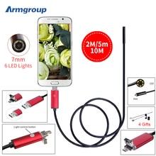 Endoscopio endoskop эндоскоп инспекции бороскоп труб эндоскопа камера android hd камеры