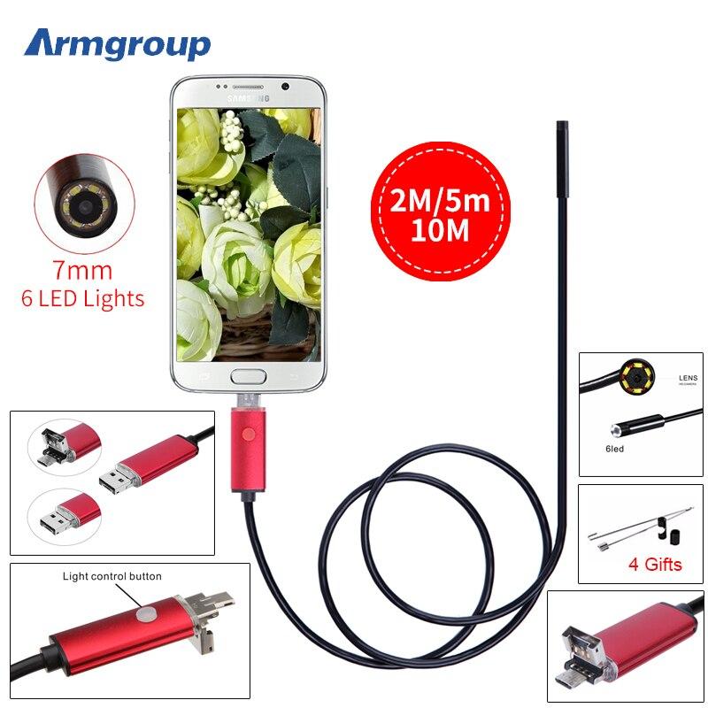 Endoscope 7MM 2M 5M 10M Endoscope HD font b USB b font Android Endoscopio Camera IP67
